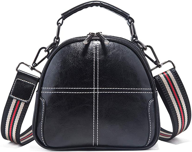 Womens Mini Handbags Fabric Sewing Thread Wide Shoulder Strap Retro Shoulder Messenger Bag Wild Fashion Tote Bags