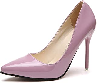 Pointed Toe Pumps Patent Leather Dress High Heels Boat Shoes Wedding Shoes