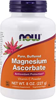 NOW Supplements, Magnesium Ascorbate Powder, Buffered, Antioxidant Protection*, 8-Ounce