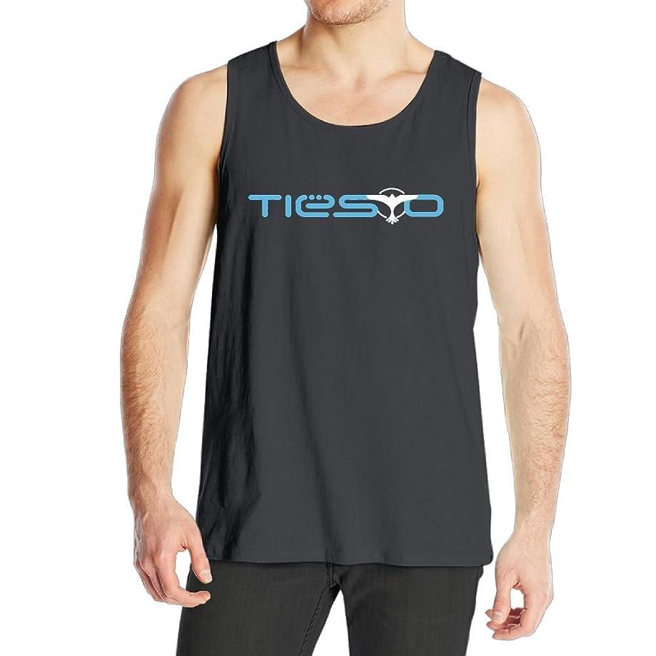 Quliuwuda Mens Tiesto Muscle Gym Black Sleeveless Shirt Tank Tops