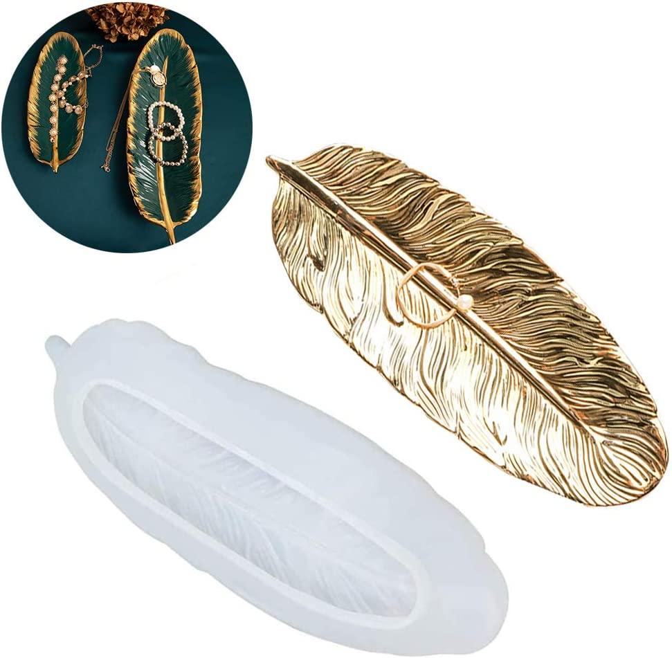 Feather Surprise price Tray Epoxy Ranking TOP10 Resin Silicone Mold Trinket D Storage Jewelry