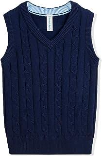 Benito & Benita Boys Uniform Vest V-Neck Cable School Sweater Vest for Boys/Girls 3-12Y