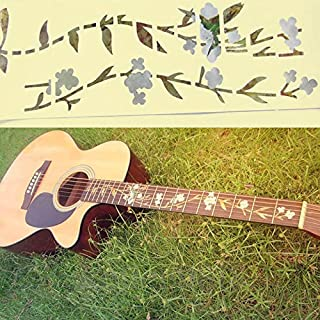 Zmond - Guitar Bass Inlay Sticker Fretboard Marker Flowers Grass and Hummingbird Decal