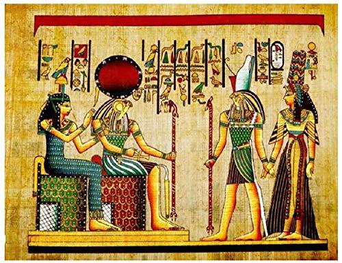 WCYJ Puzzles Madera Rompecabezas 1000 Piezas Faraón Egipcio Patrón Mural Muy Desafiante Rompecabezas Descompresión Rompecabezas De Madera Decoración del Hogar Regalos-75 * 50Cm