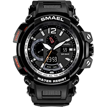 KXAITO Men's Watches Sports Outdoor Waterproof Military Wrist Watch Date Multi Function Tactics LED Alarm Stopwatch