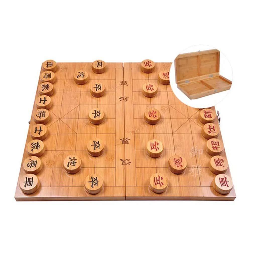 GZ Juego de Mesa Xiangqi Juego de ajedrez Chino con doblan al Tablero, Juegos de Estrategia for 2 Jugadores (Size : 5cm/2