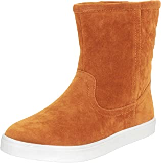 Cambridge Select Women's Faux Fur Lined Quilted Flat Ankle Boot