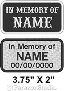 Custom Embroidered in Memory of Motorcycle Biker MC Sew on Patch 3.75
