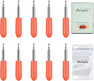 Blades for Cricut Explore Air 2,10 Pieces 45 Degree Replacement Blades for Cricut Explore Air Air 2 Maker Cutting with Anti Lost Bag and Storage Container