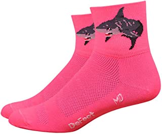 """DEFEET Pink 3"""" Aireator Attack Women's Road Mountain Cycling Running Spinning Sock Made in the USA"""