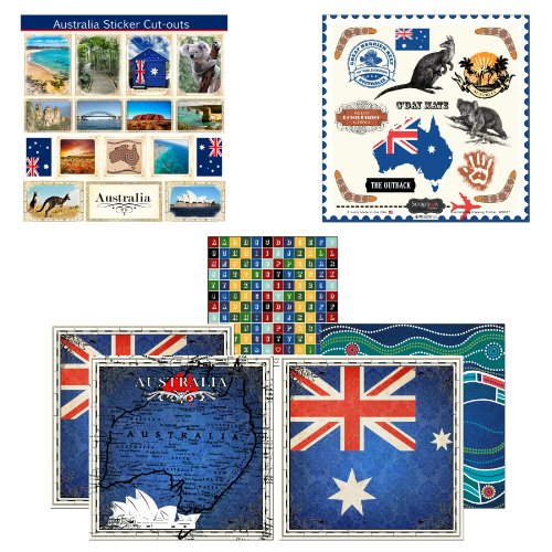 Scrapbook Customs Themed Papier und Aufkleber Scrapbook-Set, Australien Sightseeing