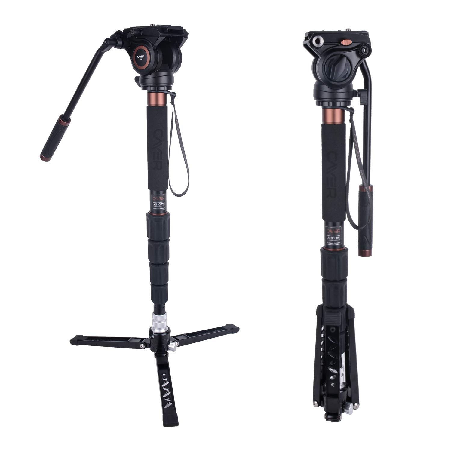Monopod Cayer Aluminum Camcorders Upgraded