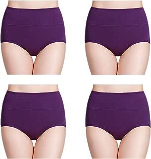 wirarpa Women's Multipack Cotton Underwear High Waist Full Coverage Brief Panties