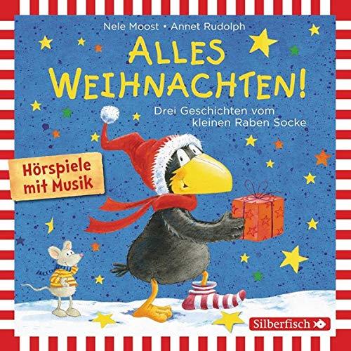 Alles Weihnachten! Drei Geschichten vom kleinen Raben Socke  By  cover art