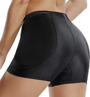 Kiwi-Rata Womens Seamless Butt Lifter Padded Lace Panties Enhancer Underwear Briefs