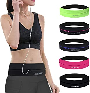 GEARWEAR Waistband Running Belt for iPhone XR XS MAX 8 Plus Phone Holder Women Men Travel Money for Samsung Galaxy for Wal...