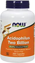NOW Supplements, Acidophilus, Two Billion, Strain Verified, Healthy Intestinal Flora*, 250 Veg Capsules