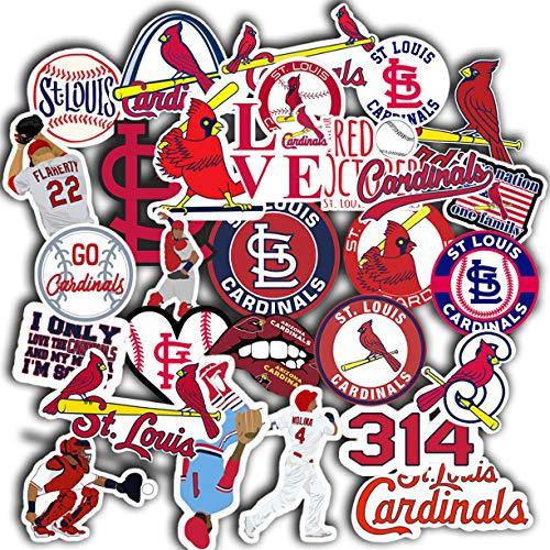 St Louis Cardinal Sticker Set of 31 Decal 2' St Louis Cardinal Decal
