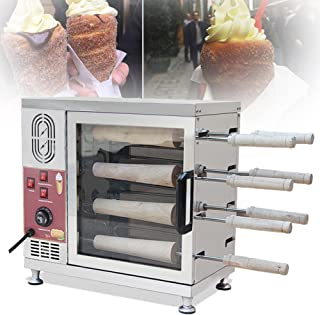 Zinnor Electric Ice Cream Cone Kurtos Kalacs Chimney Cake Roll maker oven Machine 110V 3KW
