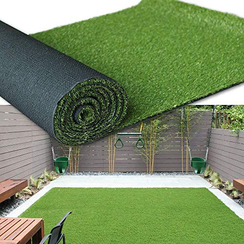 Premium Artificial Grass Turf for Pets,Realistic Fake Grass for Indoor Outdoor Landscape Lawn,Synthetic Grass Turf for Patio-Customized Pile Height 30mm 1x5m(3.3x16ft)