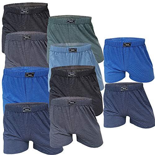SGS 10 Boxershort Herren Unterhosen Boxershorts Men Baumwolle (6/M, 10.Stück ohne Eingriff)