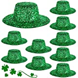 10 Pieces St. Patrick's Day Mini Party Hats Leprechaun Hats Glittery Green Mini Hats St. Patrick's Day DIY Decoration for St. Paddy's Day Party, Dolls, Craft Projects