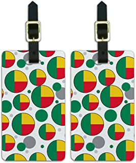 Graphics & More c-Benin National Country Flag, Blanco, Talla única