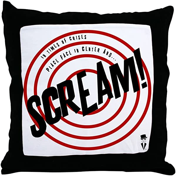 CafePress Scream Pillow New And Improved Throw Pillow