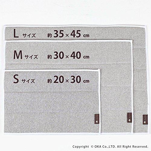 オカPLYSbase(プリスベイス)水切り吸水マットSサイズ約20×30cm(グリーン)