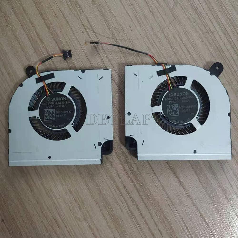 DBTLAP Laptop CPU+GPU Ventilador Cooler para Xiaomi MI Redmi G 2020 TM1945 EG75070S1-C550-S9A EG75070S1-C560-S9A