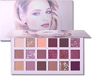 UCANBE Aromas The New Nudes Eyeshadow Makeup Palette, 10 Matte + 4 Shimmering + 2 Glitter + 1 Pressed Pear + 1 Concealer Base Shade Blending, High Pigmented Easy to Wear Eye Shadow Powder Pallet