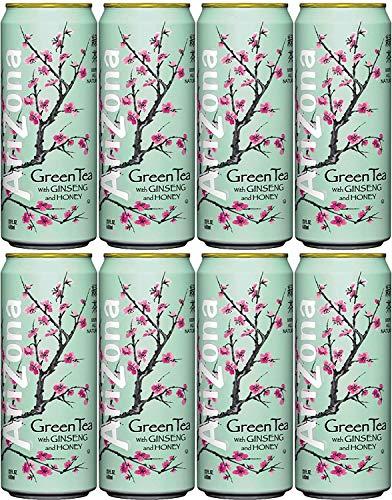 Arizona Tea Green Tea, 23 Fl Oz Tall Cans (Pack of 8, Total of 184 Oz)