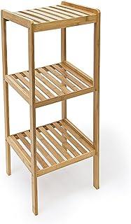 Relaxdays - Estanteria de baño, Hecha de bambú, 33 x 33 x