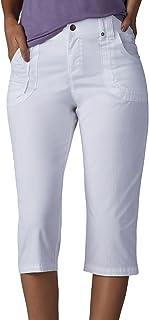 Lee womens Petite Relaxed Fit Lyric Knit Waist Cargo Capri Pant Pants