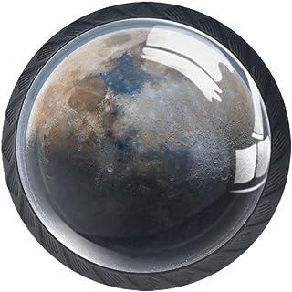 Moon Stars Space - Juego de 4 pomos para armario de cocina (4 unidades)