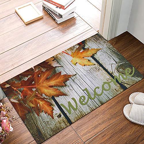 """Fußmatte mit Aufschrift """"Welcome"""", rutschfeste Fußmatte, 43,2 x 73,7 cm, flache Druckmatten für Eingang, Garage, Terrasse, stark frequentierte Bereiche"""