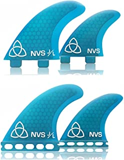 Naked Viking Surf NVS: Medium JL Quad Surfboard Fins (Set of 4) FCS & Futures