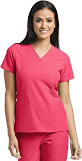 Barco ONE 5-Pocket V-Neck Top for Women - 4-Way Stretch Medical Scrub Top