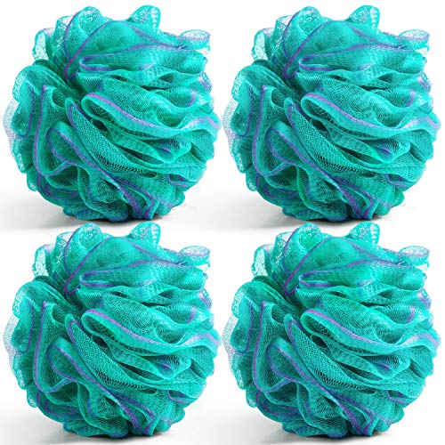 Bath Shower Loofah Sponge Pouf Body Scrubber Exfoliator 4 Pack