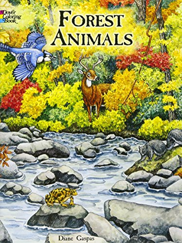 Forest Animals Coloring Book (Do...