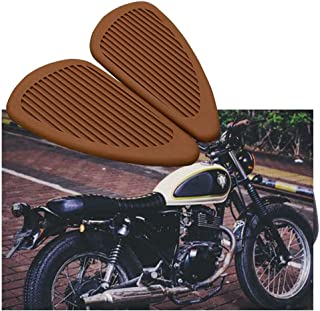 PACASK motorcycle Gas Fuel Tank Pad Traction Side Sticker Knee Grip Protector Decals for honda yamaha suzuki Har-ley CG GN (Brown)