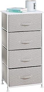 mDesign Vertical Furniture Storage Tower - Sturdy Steel...