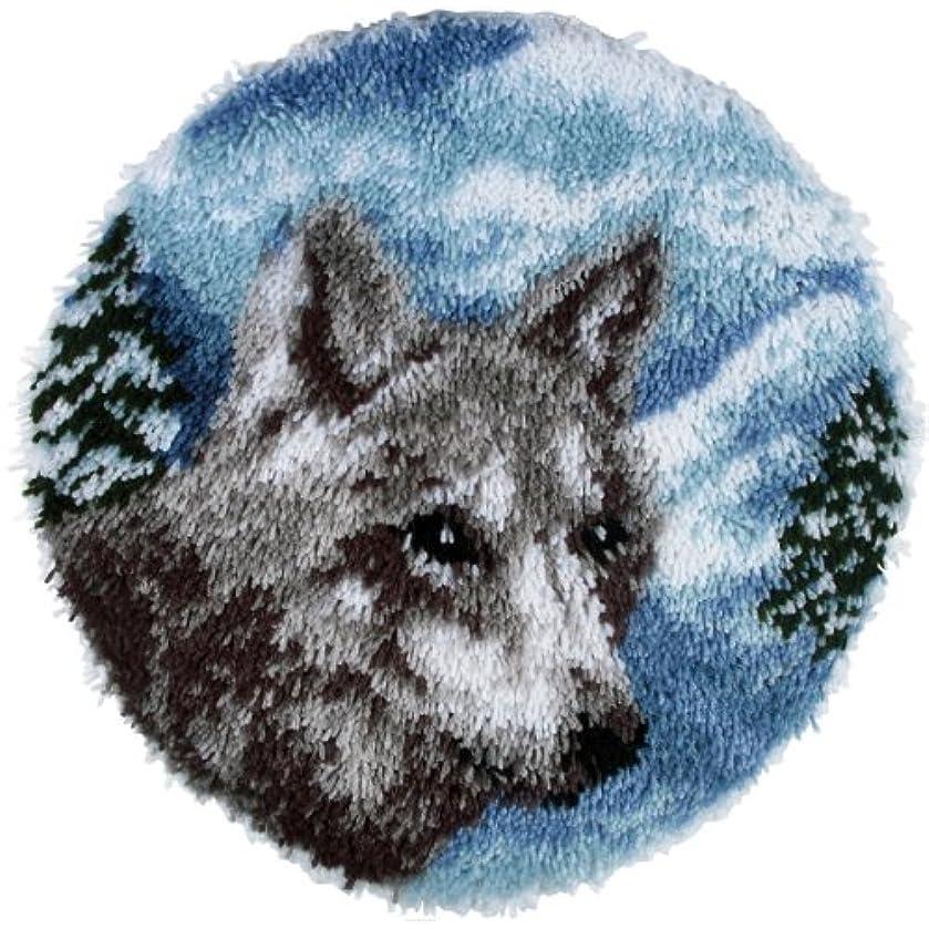 Spinrite Wonderart Latch Hook Kit, 24-Inch Round, Lone Wolf