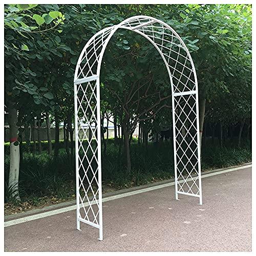 CCLLA Arcos de jardín de Hierro Pesado, Arcos de Rosas con diseño de Malla Engrosada, decoración de Patio al Aire Libre/Blanco / 180 * 250 * 40 cm
