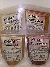 Khadi (Chandan powder, Multani mitti, Rose petal powder and Face Pack ) Face Care Combo 100 gm Each