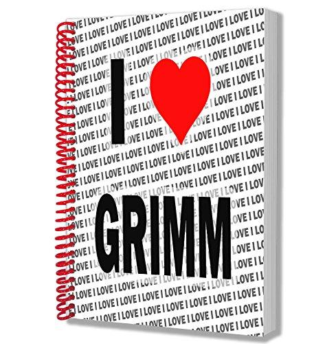 Cuaderno tamaño A5 con texto en inglés'I Love Grimm', para cumpleaños,...