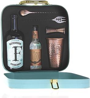 """FERDINAND""""S Traveller""""s Set 1x Dry Gin 50cl  1x Kupferbecher G&T  1x Barlöffel  1x Jigger  1x Tonicwater Spirituose, 1 x 500 ml / 1 x 200 ml"""