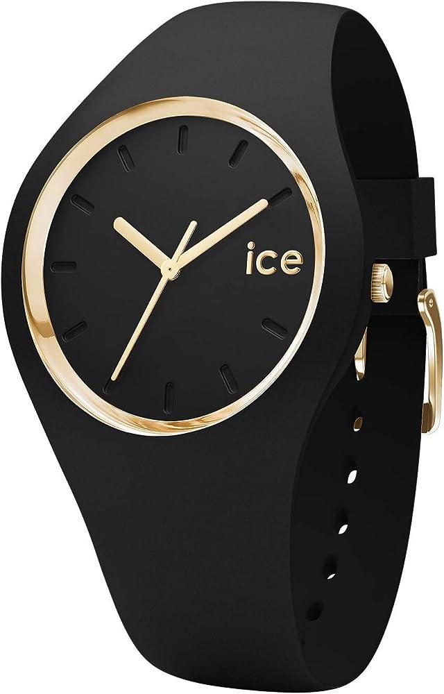 Ice-watch,orologio da donna, in silicone, con anello e lancette oro 001613