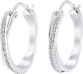 Elli Ohrringe Creole Verschlungen Swarovski® Kristalle Silber