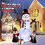 Inflables navideños Decoraciones al aire libre, muñeco de nieve inflable pingüinos para Navidad Decoraciones de jardín de patio interior al aire libre